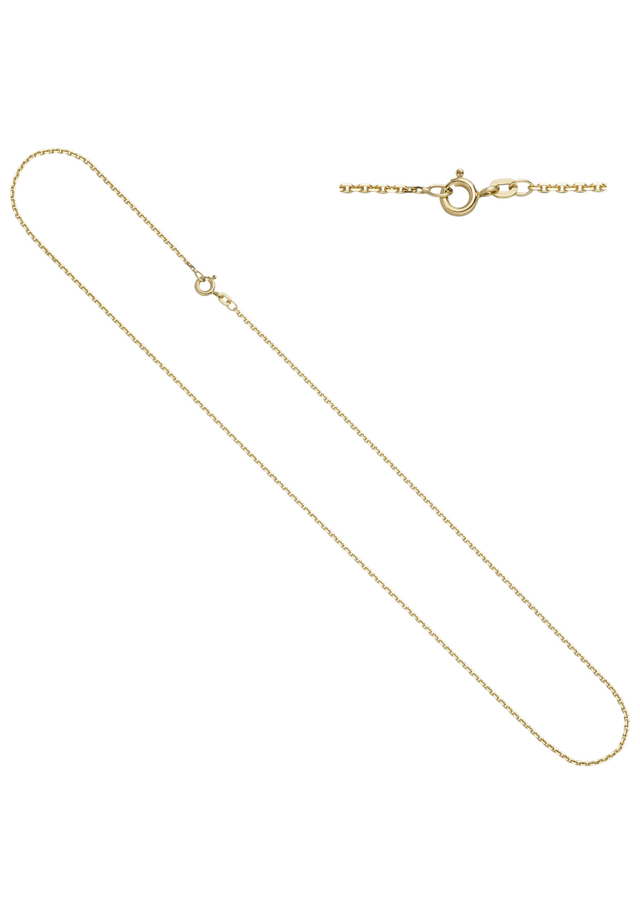 JOBO Goldkette Ankerkette 585 Gold diamantiert 50 cm 1,6 mm