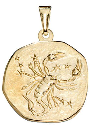 JOBO Sternzeichenanhänger Sternzeichen Skorpion 333 Gold