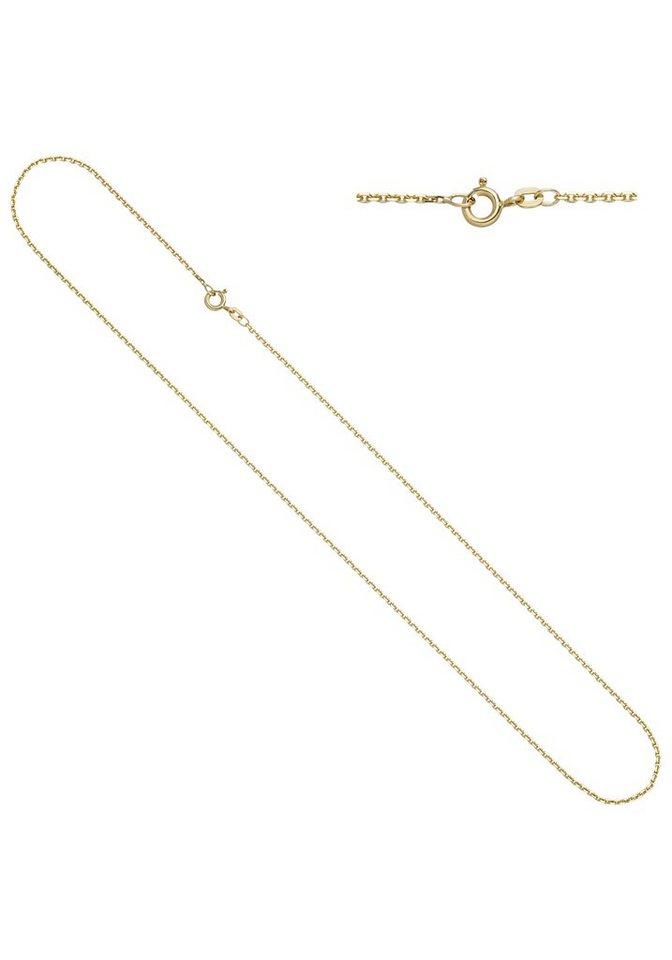 JOBO Goldkette Ankerkette 585 Gold diamantiert 60 cm 1,6 mm | Schmuck > Halsketten > Goldketten | Goldfarben | JOBO