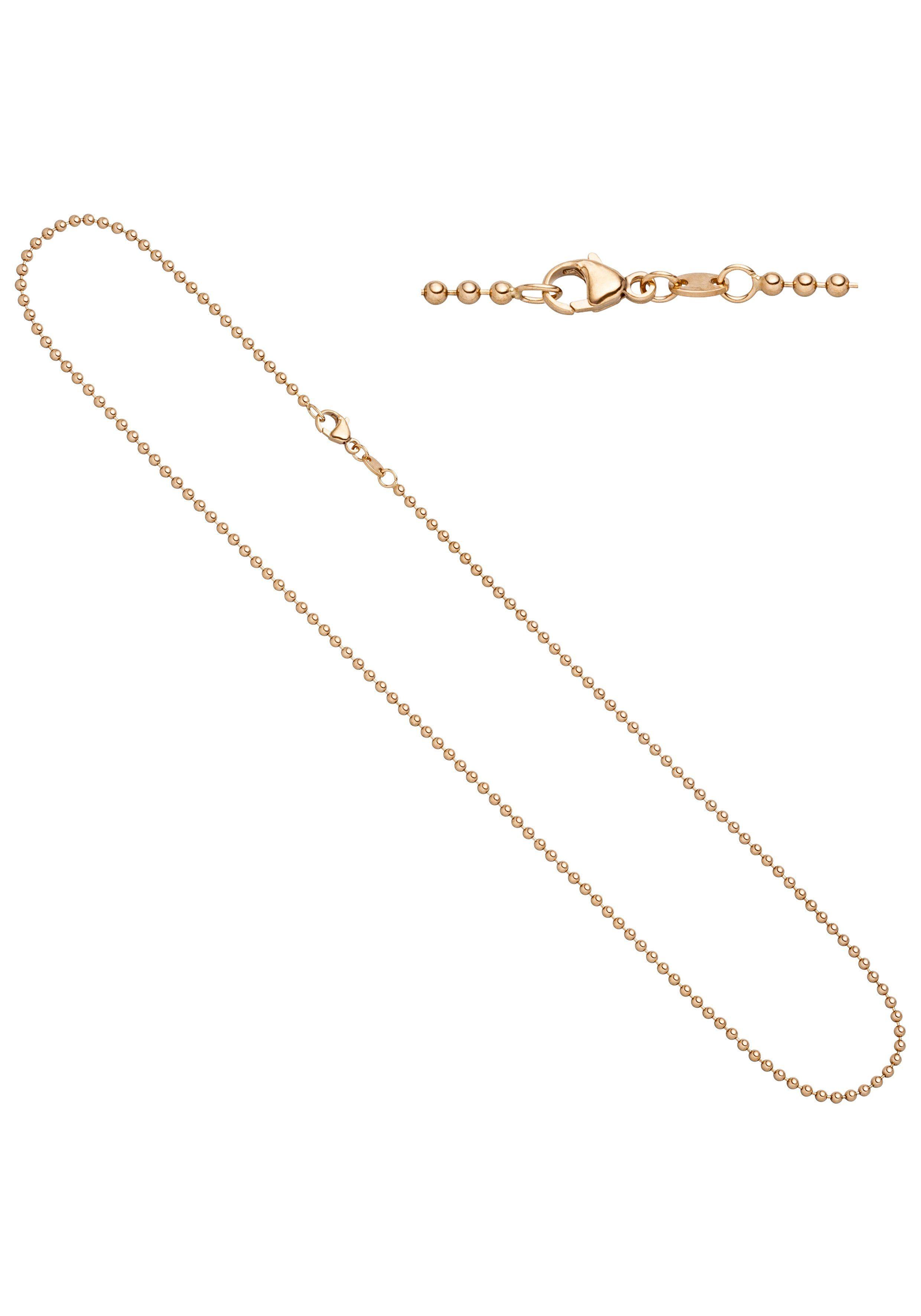 JOBO Goldkette Kugelkette 585 Roségold 45 cm 2,0 mm