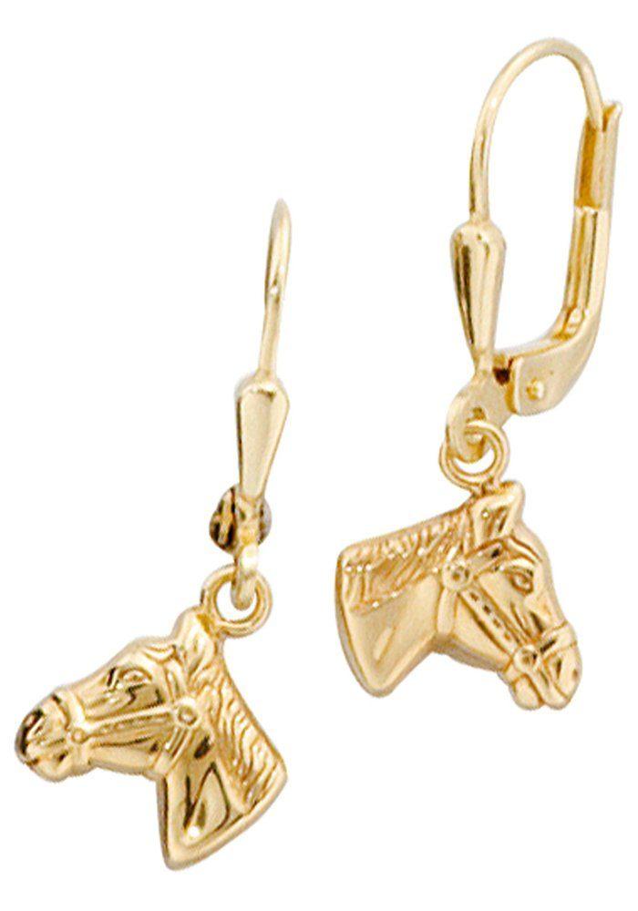 JOBO Paar Ohrhänger »Pferdeköpfe« 333 Gold