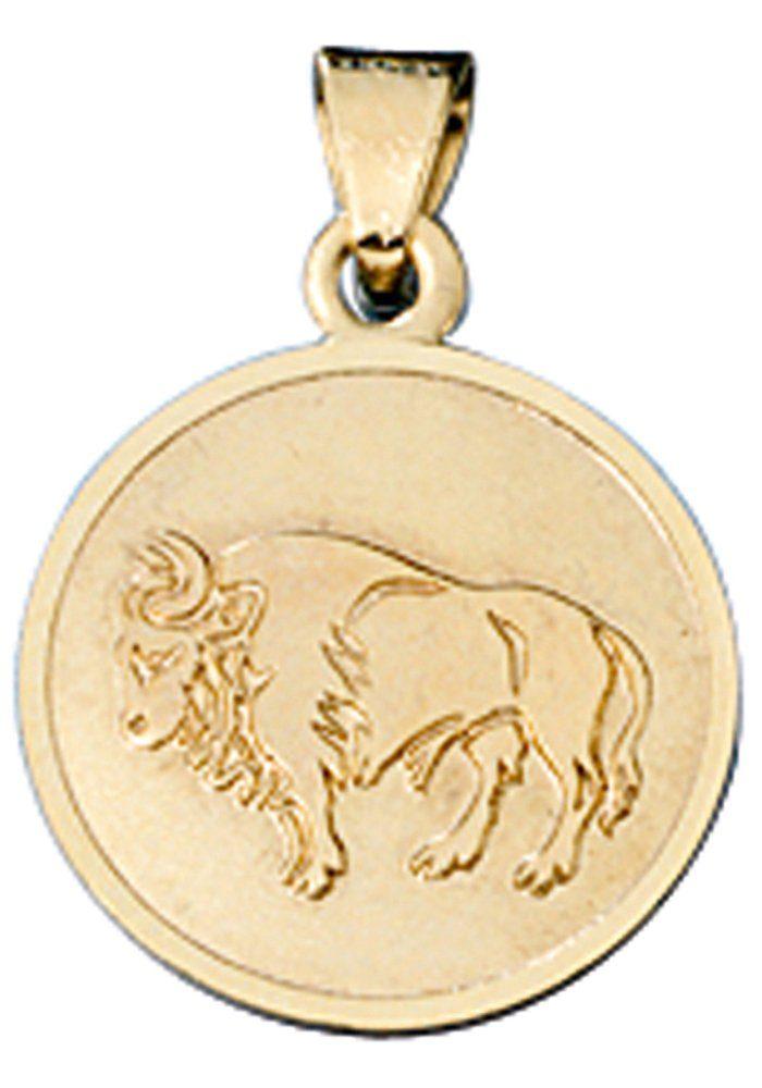 JOBO Sternzeichenanhänger Sternzeichen Stier 333 Gold