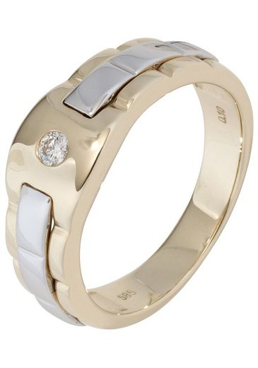 JOBO Diamantring 585 Gold bicolor mit 1 Diamant