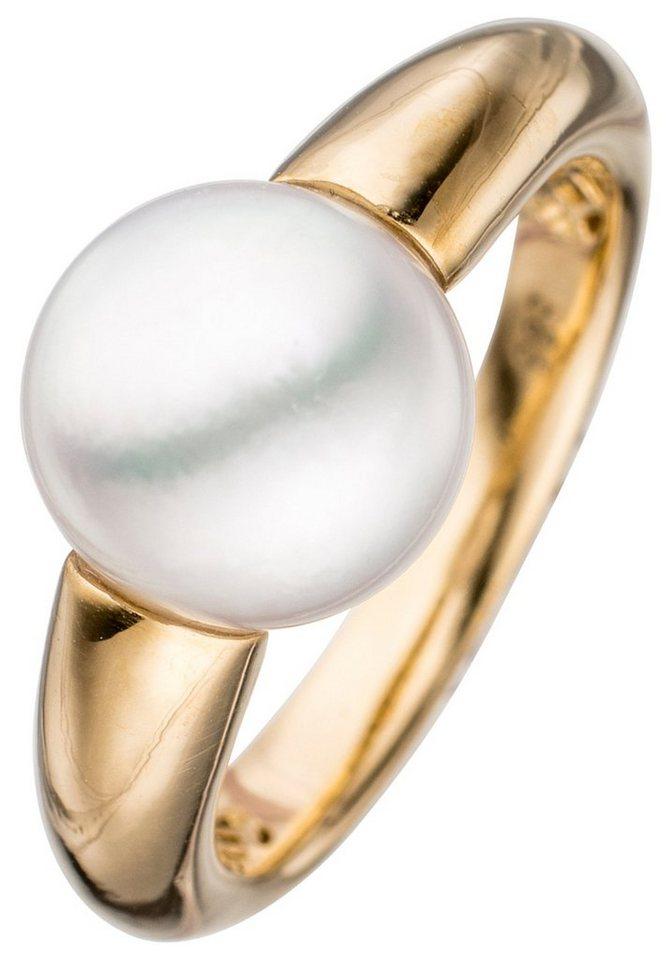 JOBO Perlenring 585 Gold mit Südsee-Zuchtperle   Schmuck > Ringe > Perlenringe   Goldfarben   JOBO