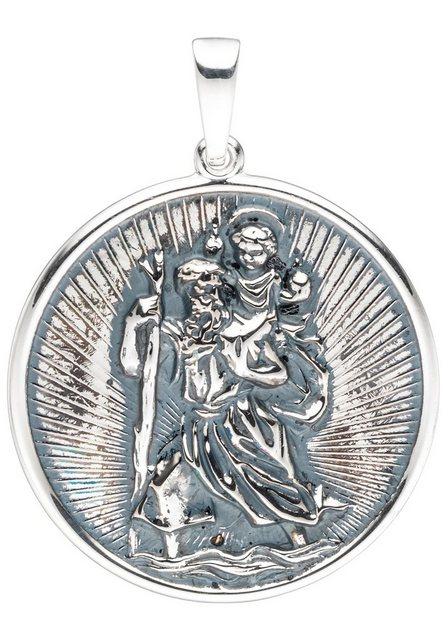 JOBO Runder Anhänger »Schutzpatron Christopherus«, rund 925 Silber | Schmuck > Charms > Charms Anhänger | Jobo