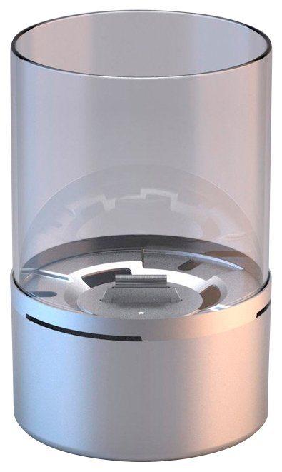 Tischfeuer »Turm«, Edelstahl, mit Glasring