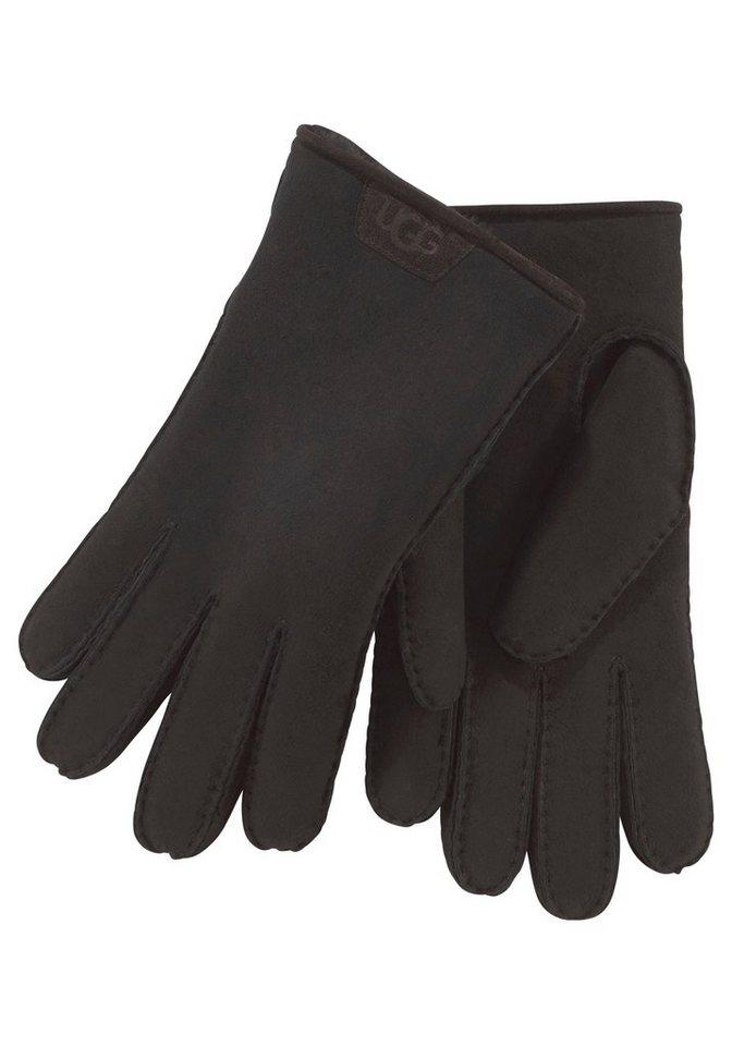 UGG Lederhandschuhe mit derben Nähten   Accessoires > Handschuhe > Lederhandschuhe   Schwarz   UGG