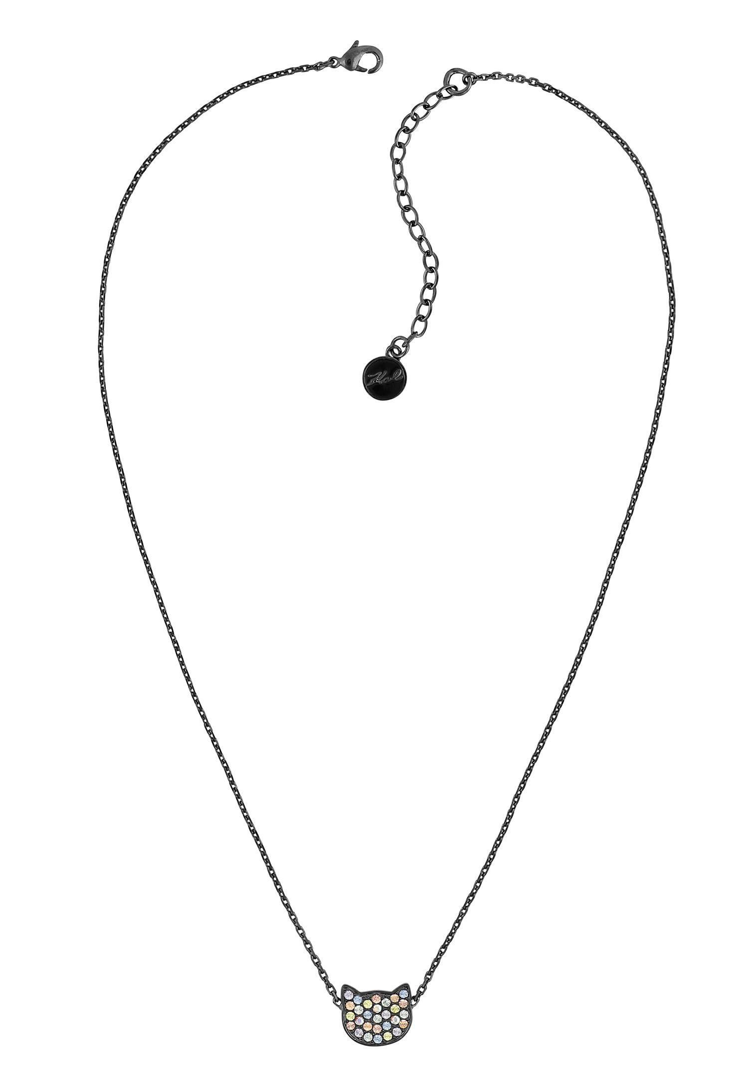 KARL LAGERFELD Kette mit Anhänger »Silhouette Choupette, 5420545« mit Swarovski® Kristallen