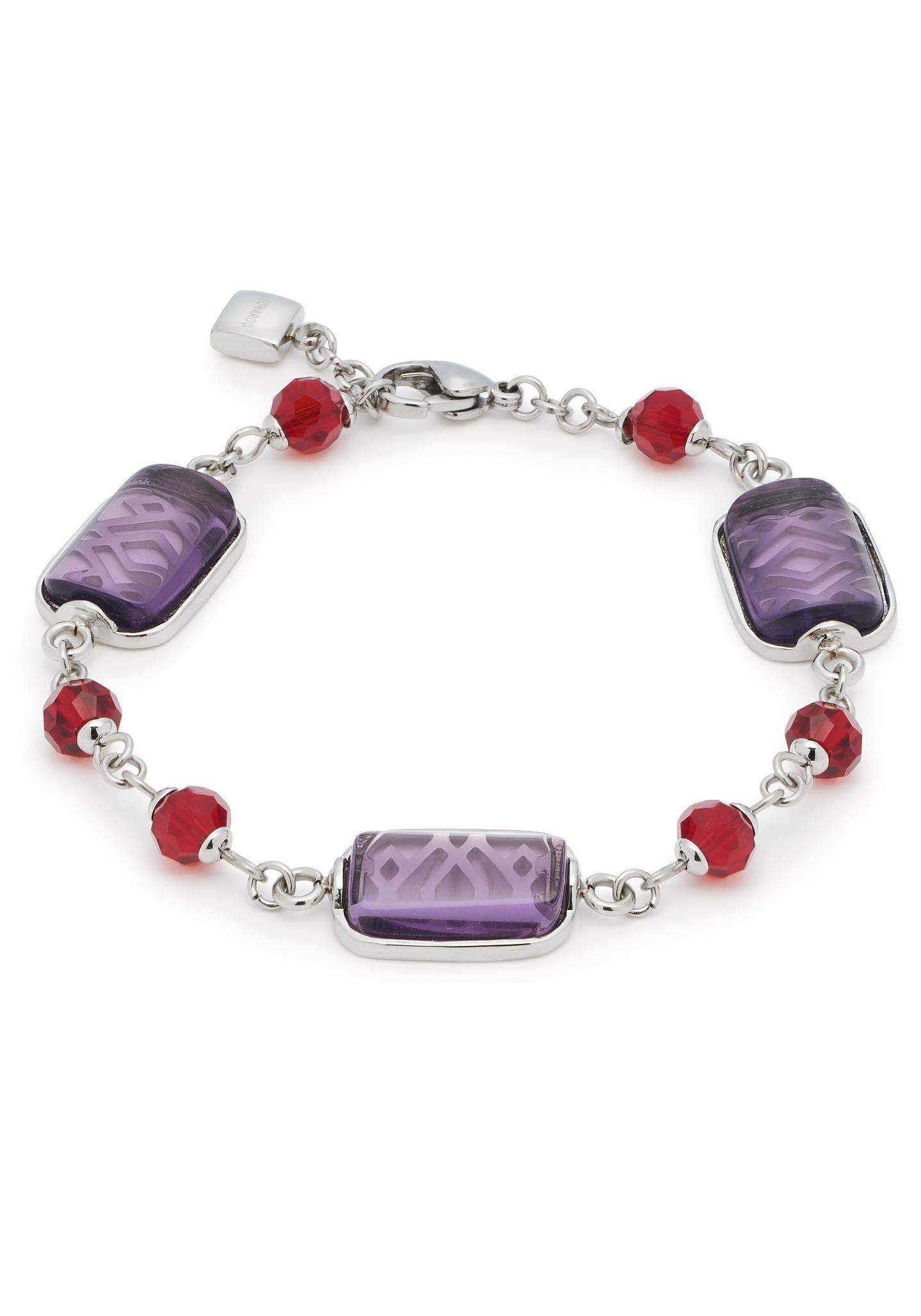 LEONARDO Armband »Armband Livorno, 016669« mit Glas- und Kristallsteinen