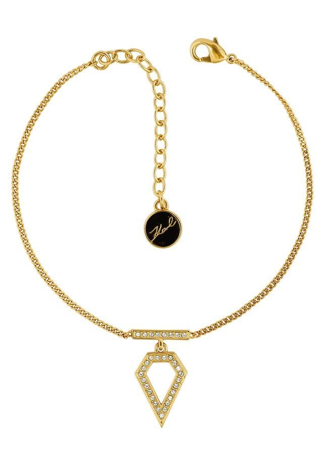 KARL LAGERFELD Armband »Elongated Open Diamonds, 5420765« mit Swarovski® Kristallen