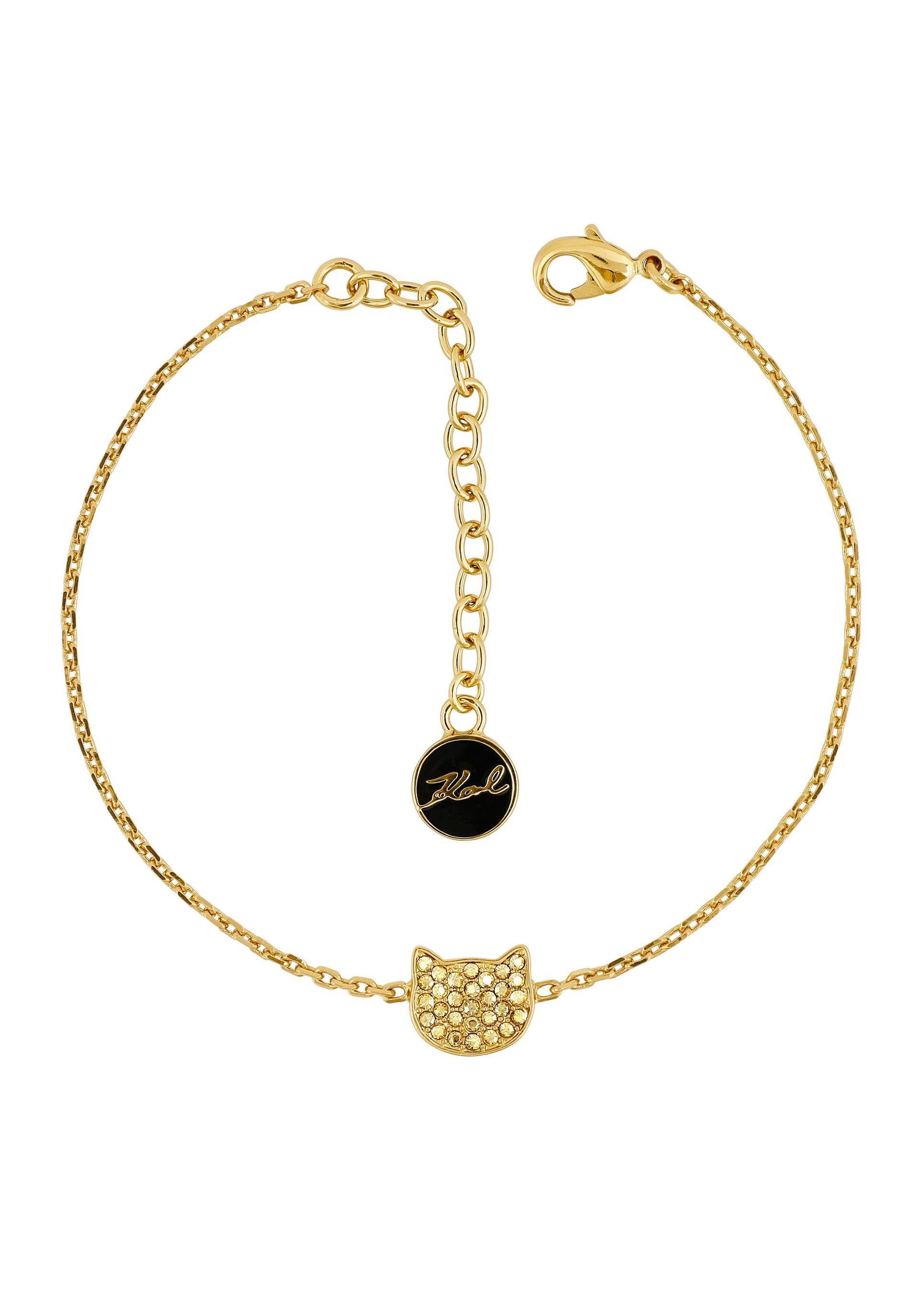 KARL LAGERFELD Armband »Silhouette Choupette, 5420549« mit Swarovski® Kristallen