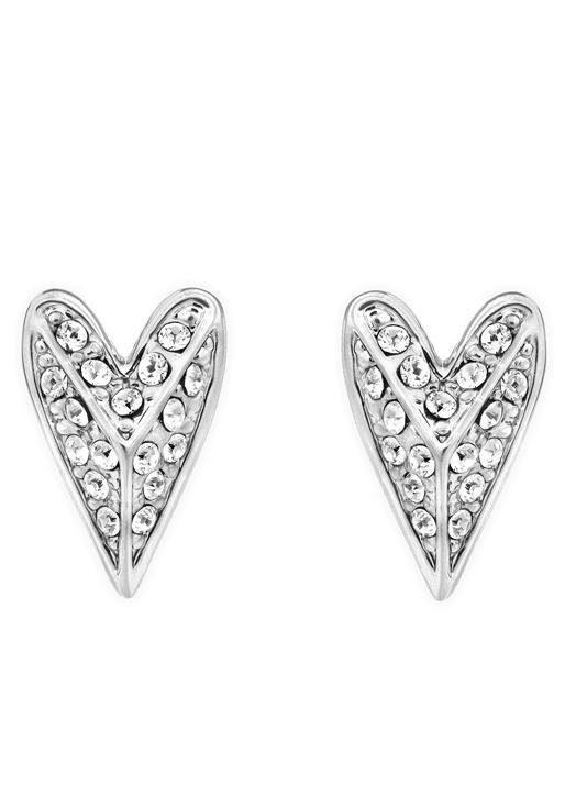 KARL LAGERFELD Paar Ohrstecker »Pyramid Hearts /Herz, 5420595« mit Swarovski® Kristallen