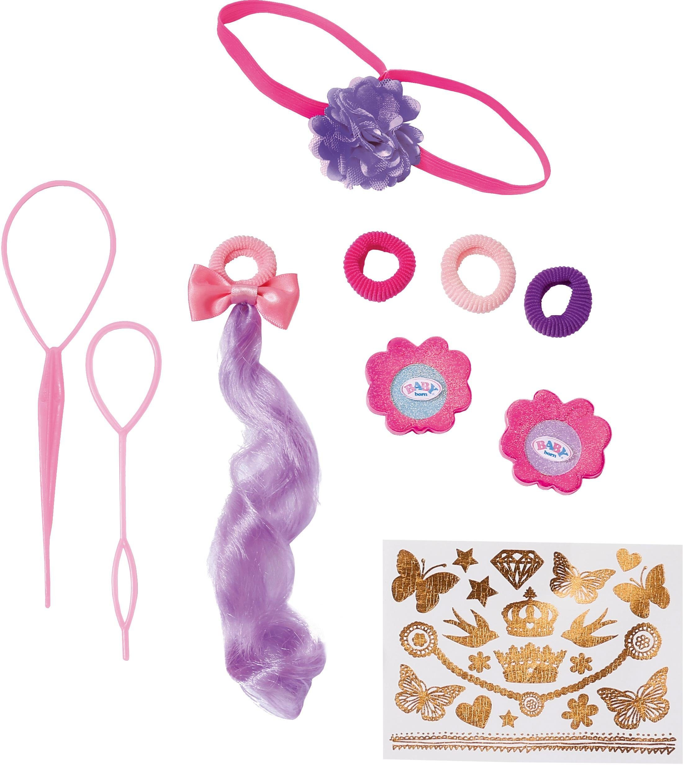 Zapf Creation Stylingkopf Zubehör, »BABY born® Sister Styling Head Accessories«