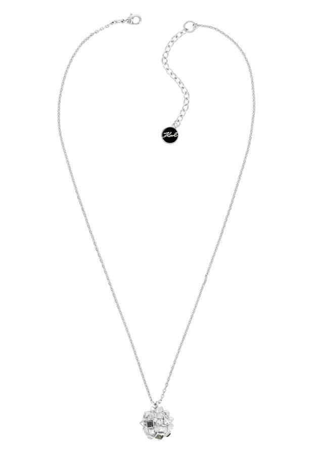 KARL LAGERFELD Kette mit Anhänger »Pyramid Clusters, 5420668« mit Swarovski® Kristallen