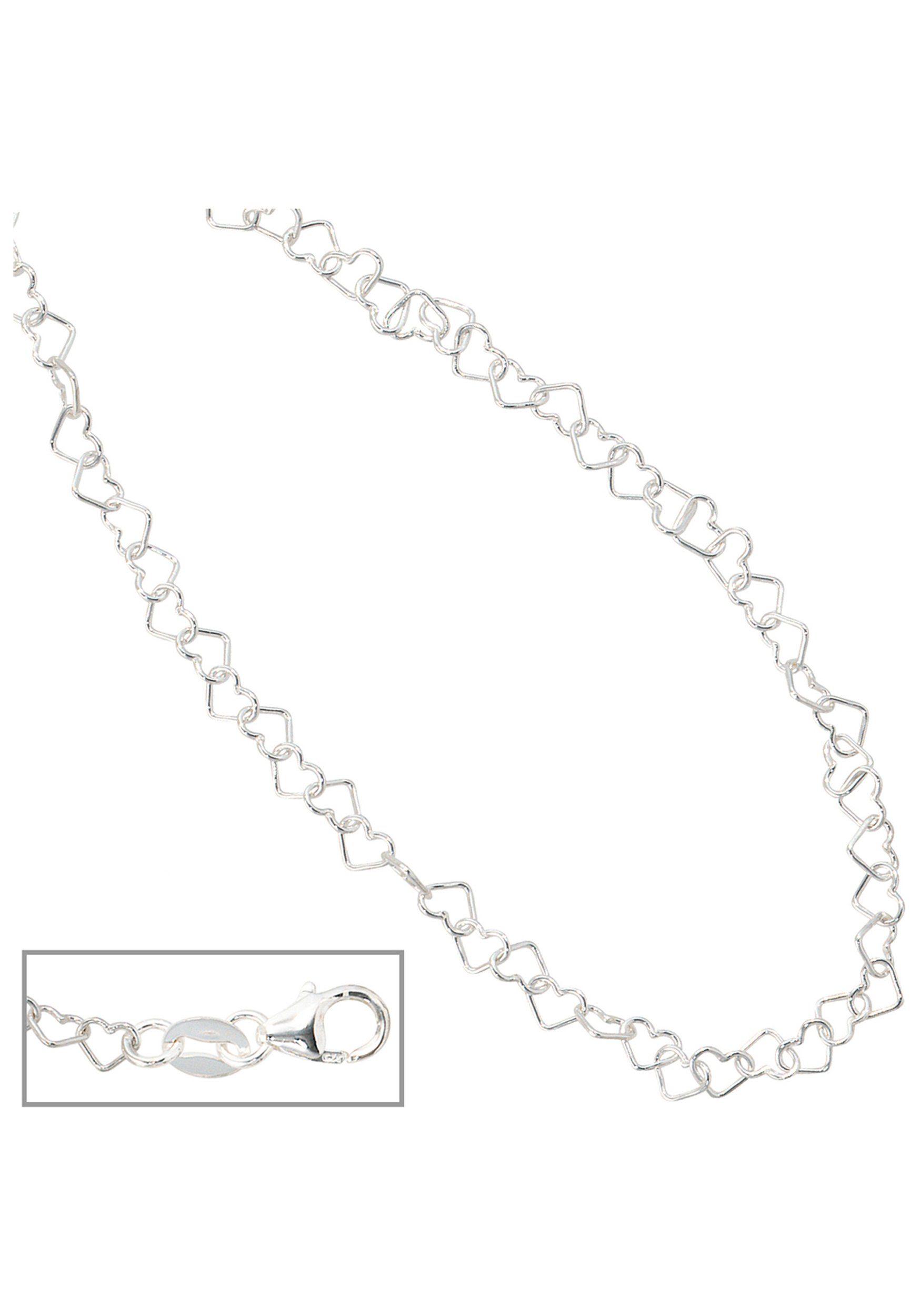 JOBO Collier »Herzchen« 925 Silber 35 cm