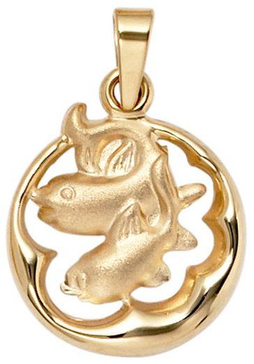 JOBO Sternzeichenanhänger, Sternzeichen Fische 375 Gold