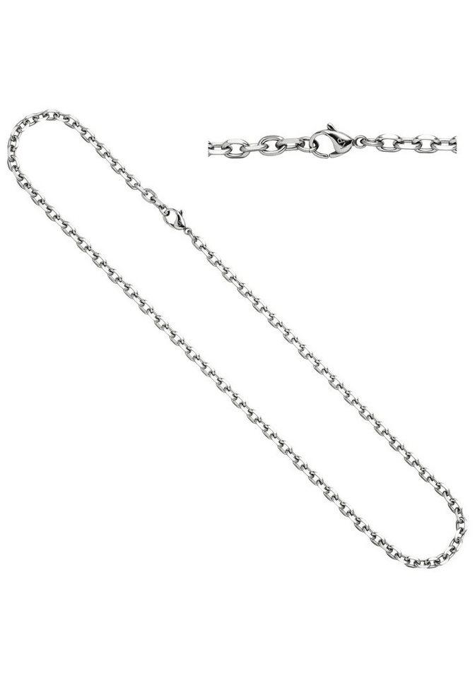JOBO Edelstahlkette Ankerkette Edelstahl 55 cm | Schmuck > Halsketten > Edelstahlketten | JOBO