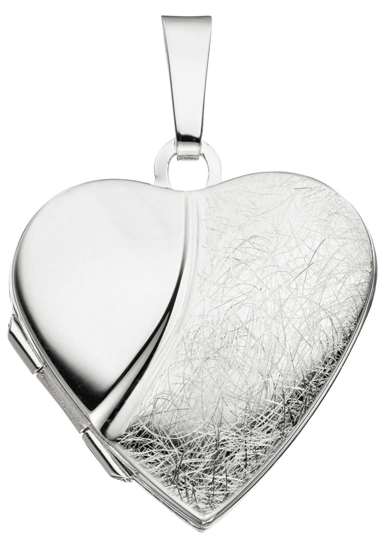 JOBO Medallionanhänger Herz 925 Silber | Schmuck > Halsketten > Herzketten | Silber | JOBO