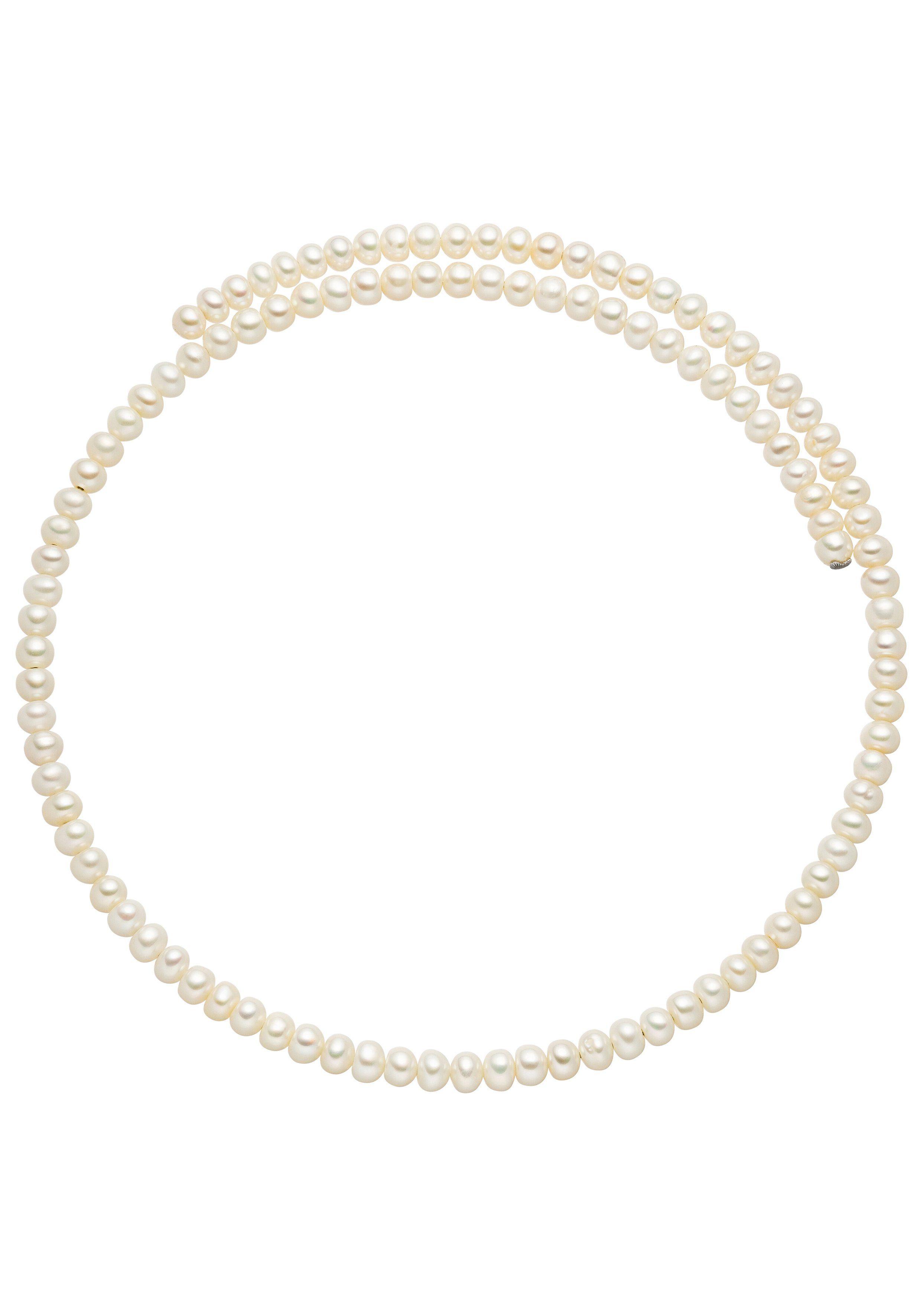 JOBO Halsreif Perlenkette mit Süßwasser-Zuchtperlen