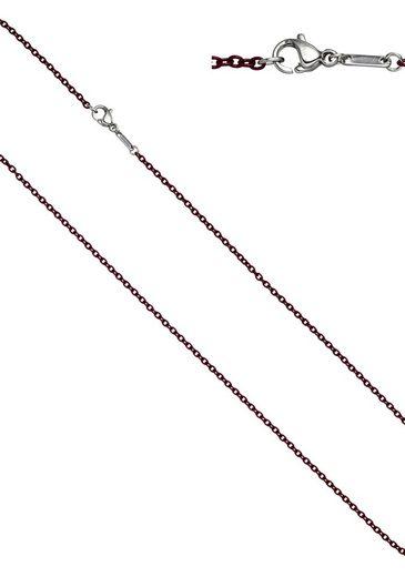 JOBO Edelstahlkette, Rundankerkette Edelstahl weinrot lackiert 42 cm