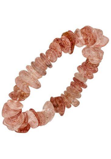 JOBO Armband, mit Erdbeerquarz 19 cm