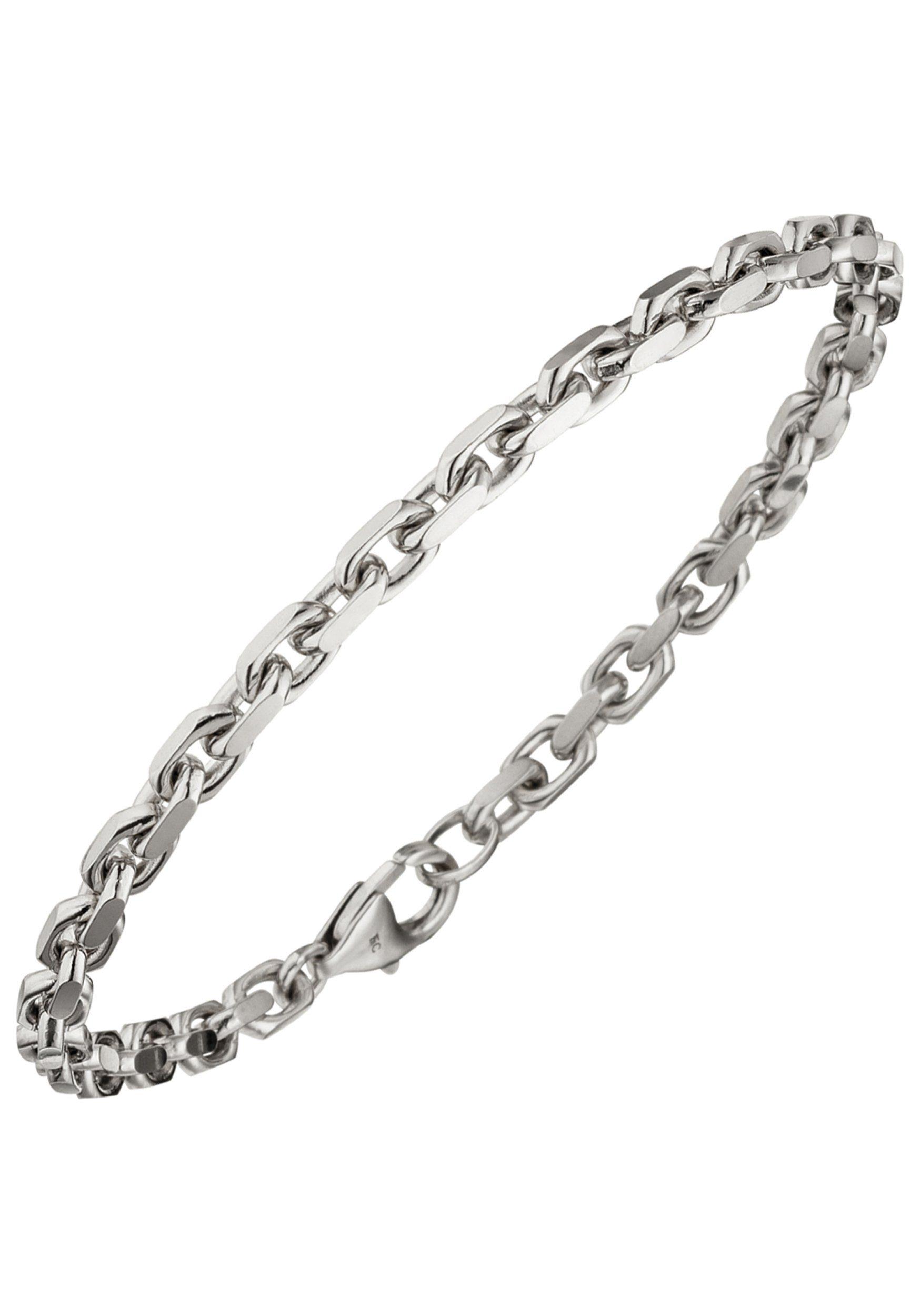 JOBO Goldarmband Ankerarmband 585 Weißgold diamantiert 21 cm