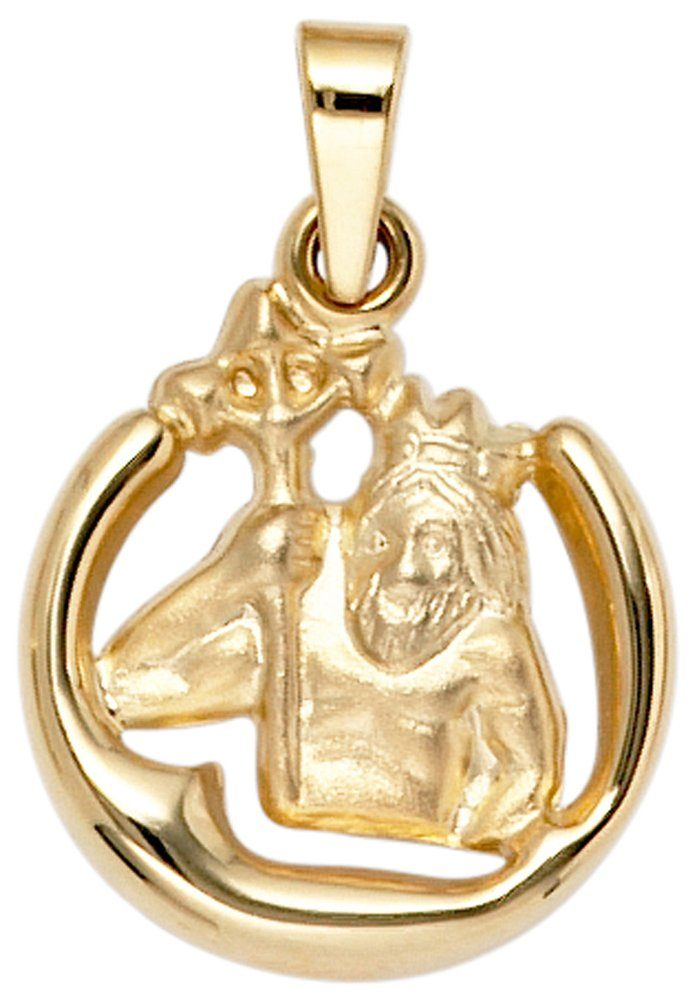 JOBO Sternzeichenanhänger Sternzeichen Wassermann 375 Gold