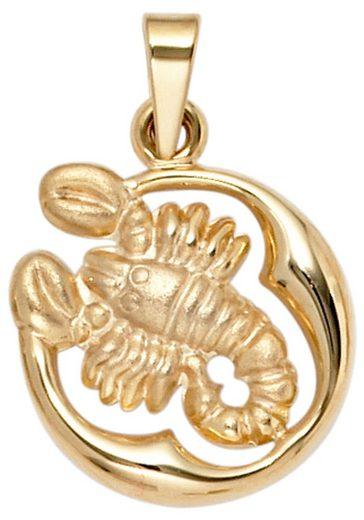 JOBO Sternzeichenanhänger Sternzeichen Skorpion 375 Gold