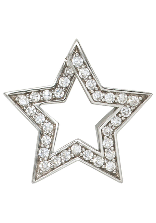 JOBO Sternanhänger »Stern« 925 Silber mit Zirkonia