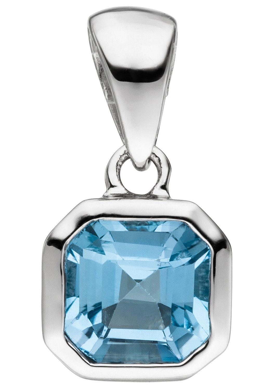 JOBO Kettenanhänger 925 Silber mit Blautopas