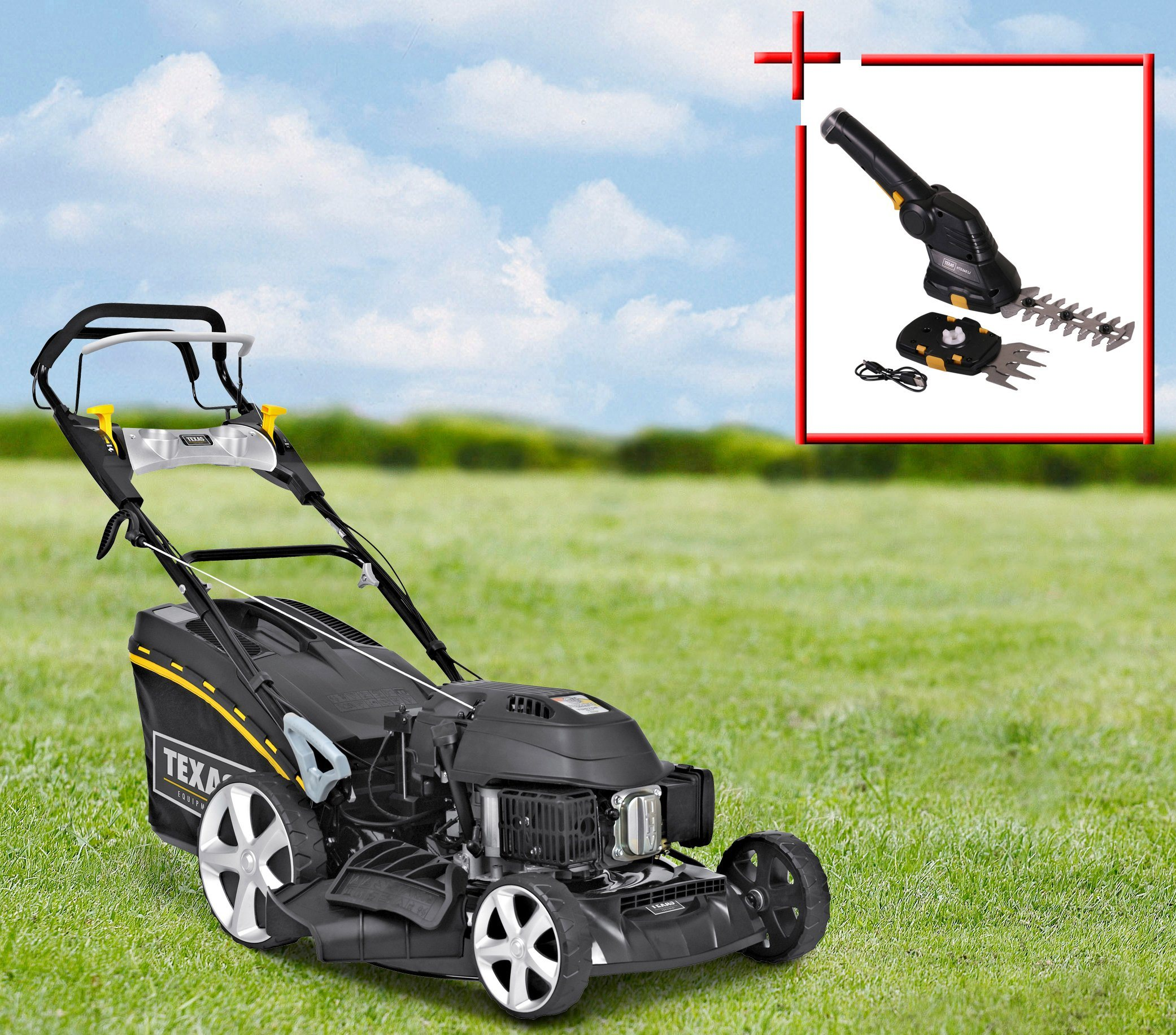 TEXAS Benzin-Rasenmäher »Razor 5150TR/WE«, 51 cm Schnittbreite | Garten > Rasenmäher und Rasentraktoren | Texas