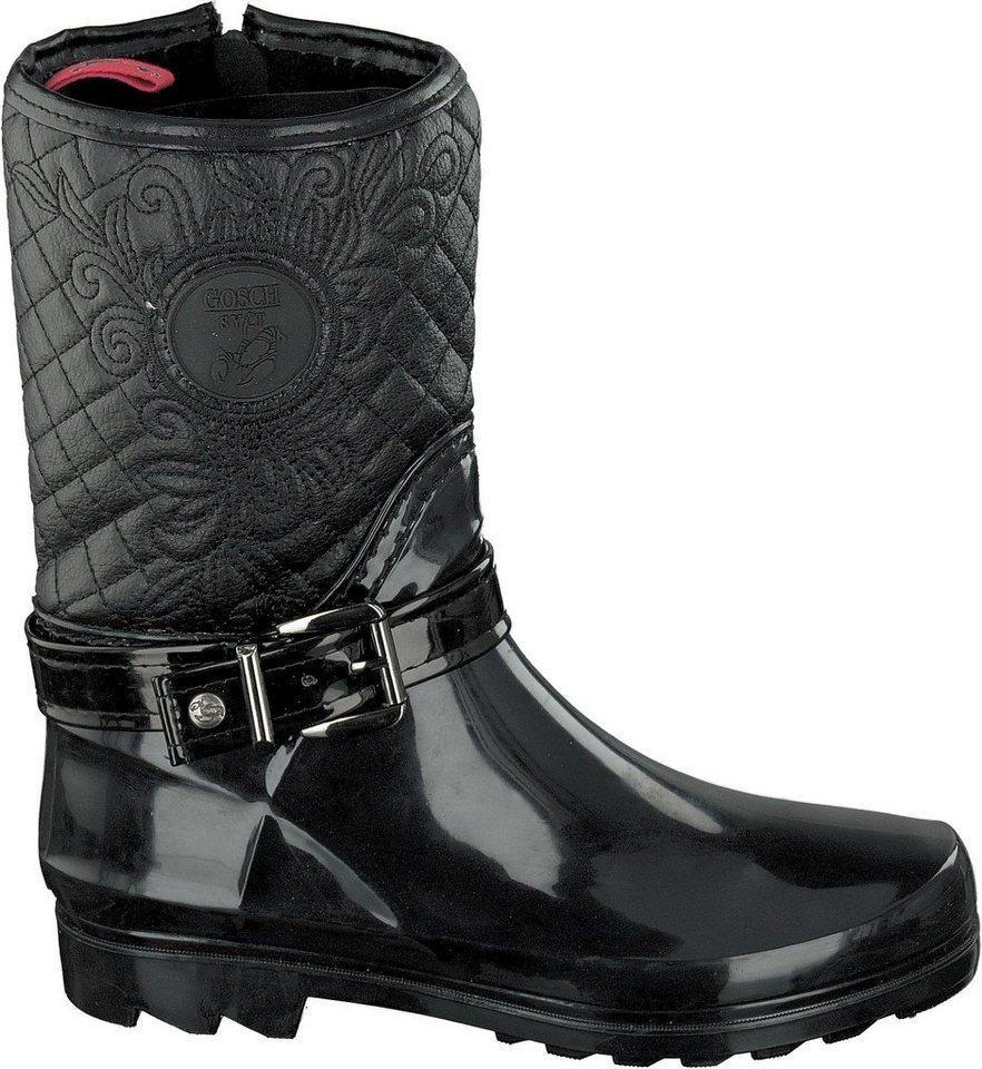 Damen GOSCH SHOES SYLT Gummistiefel mit schönem Stepp-Muster schwarz   04053974634814