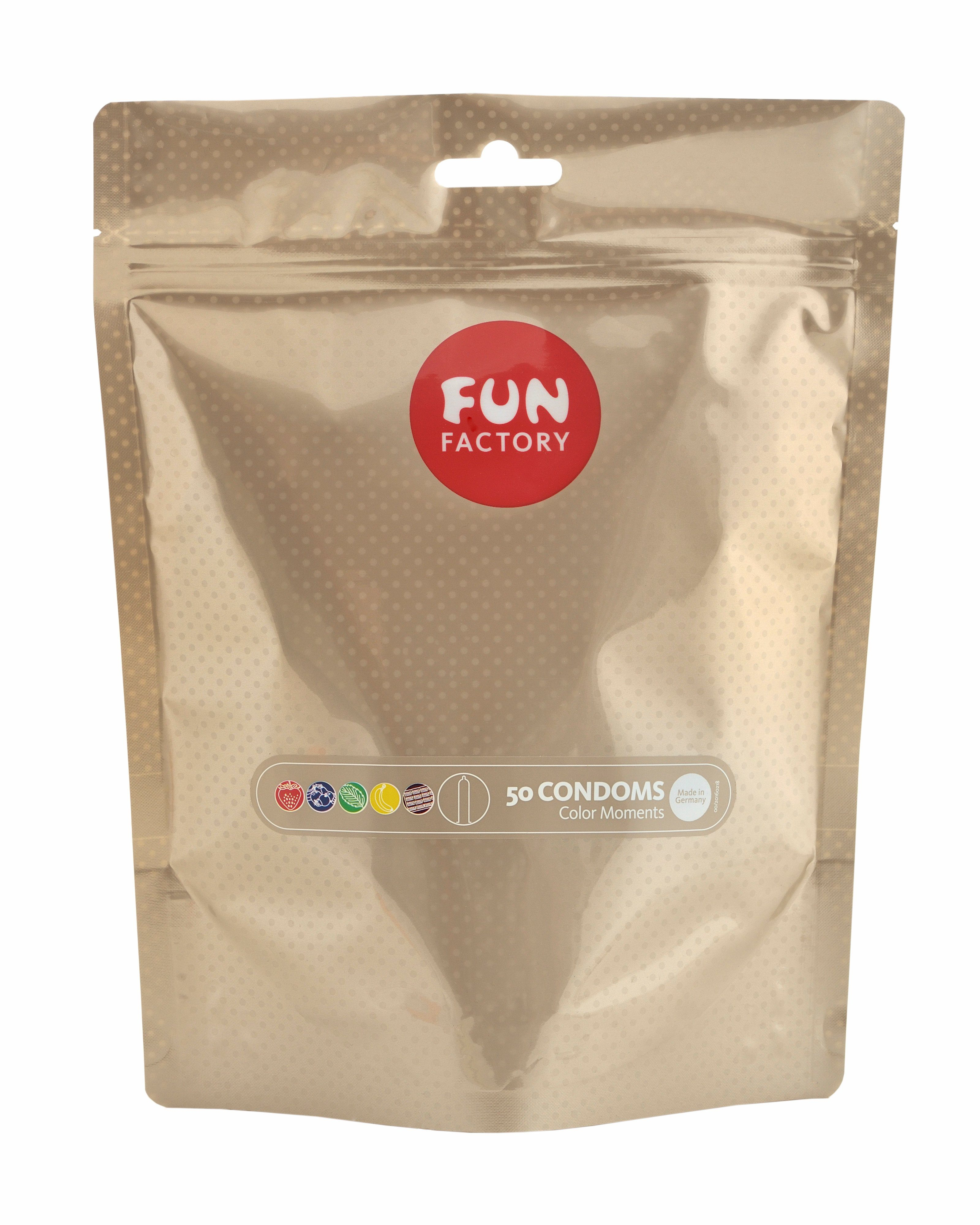 Fun Factory 50 Kondome made in Germany »Color Moments, 50er Beutel«