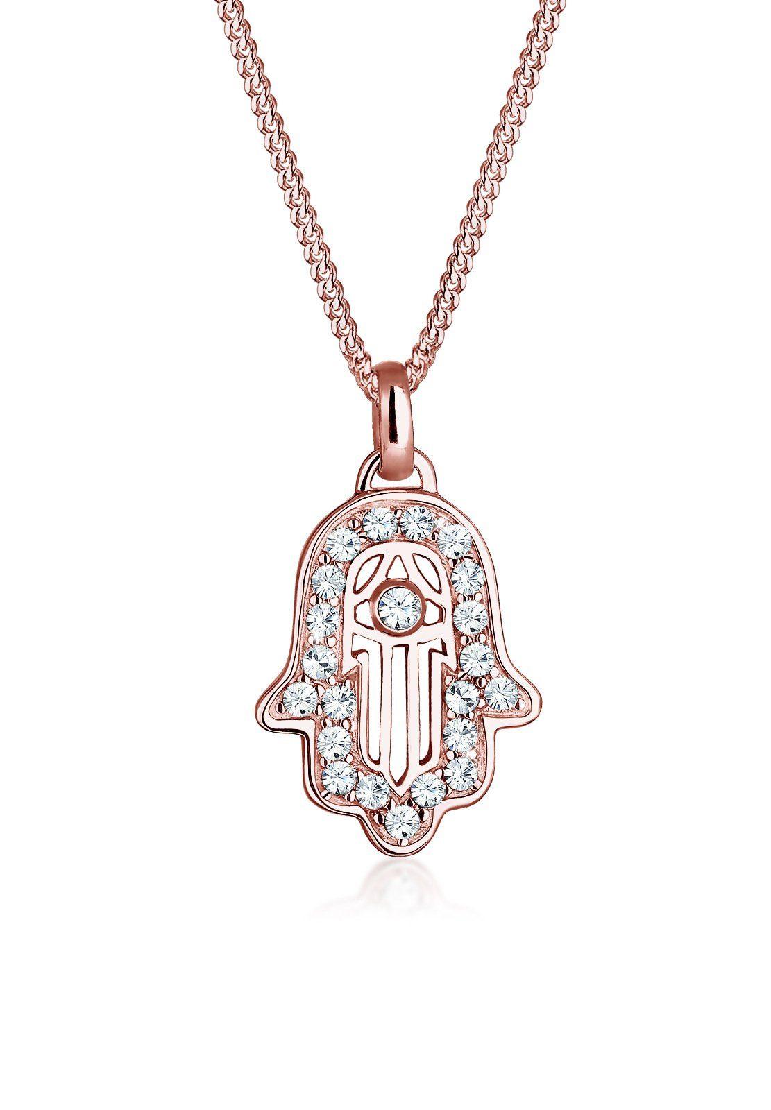 Elli Collierkettchen »Hamsa Hand Swarovski® Kristalle 925 Silber Mascota«