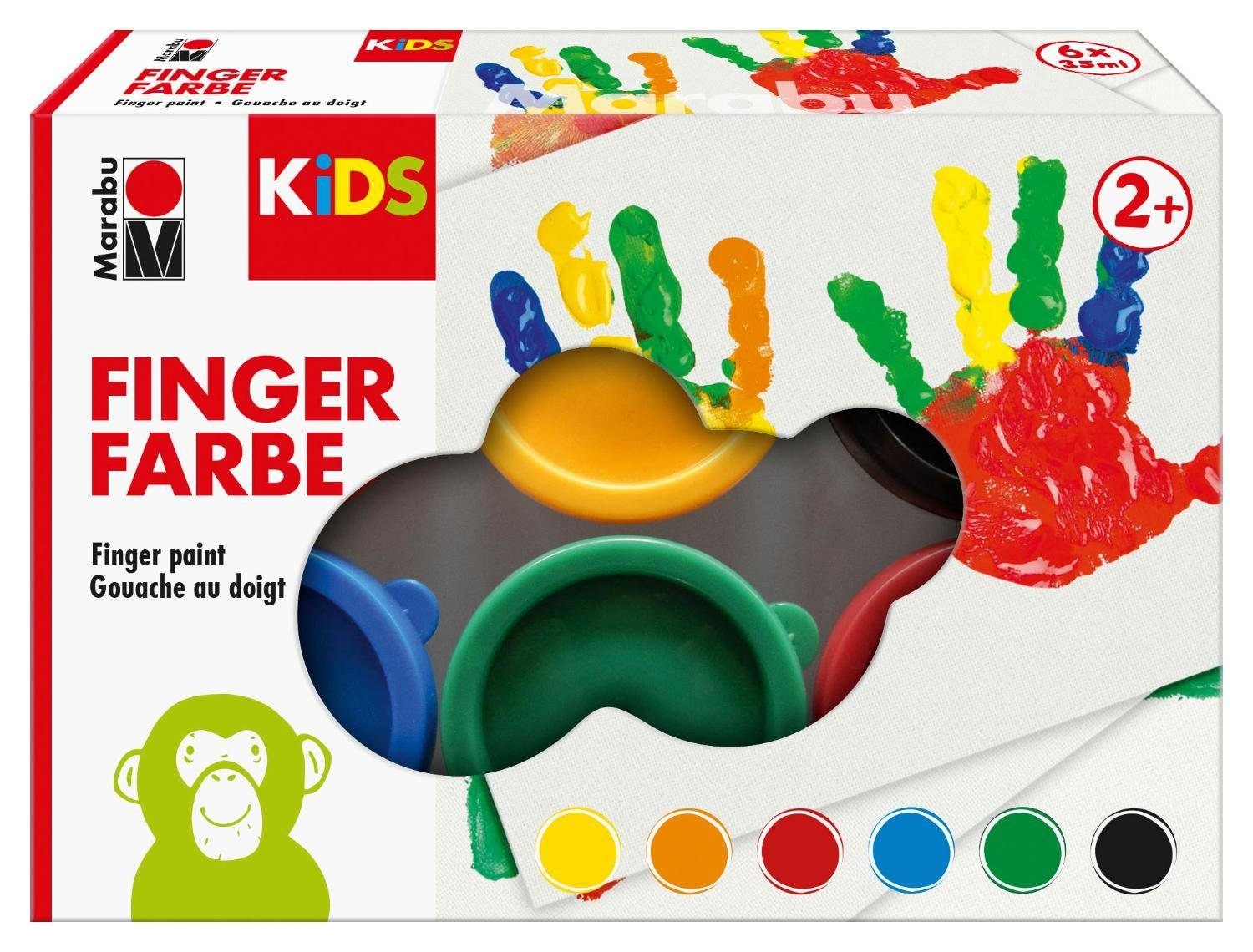 Marabu Marabu KIDS FINGERFARBE 6ER SET