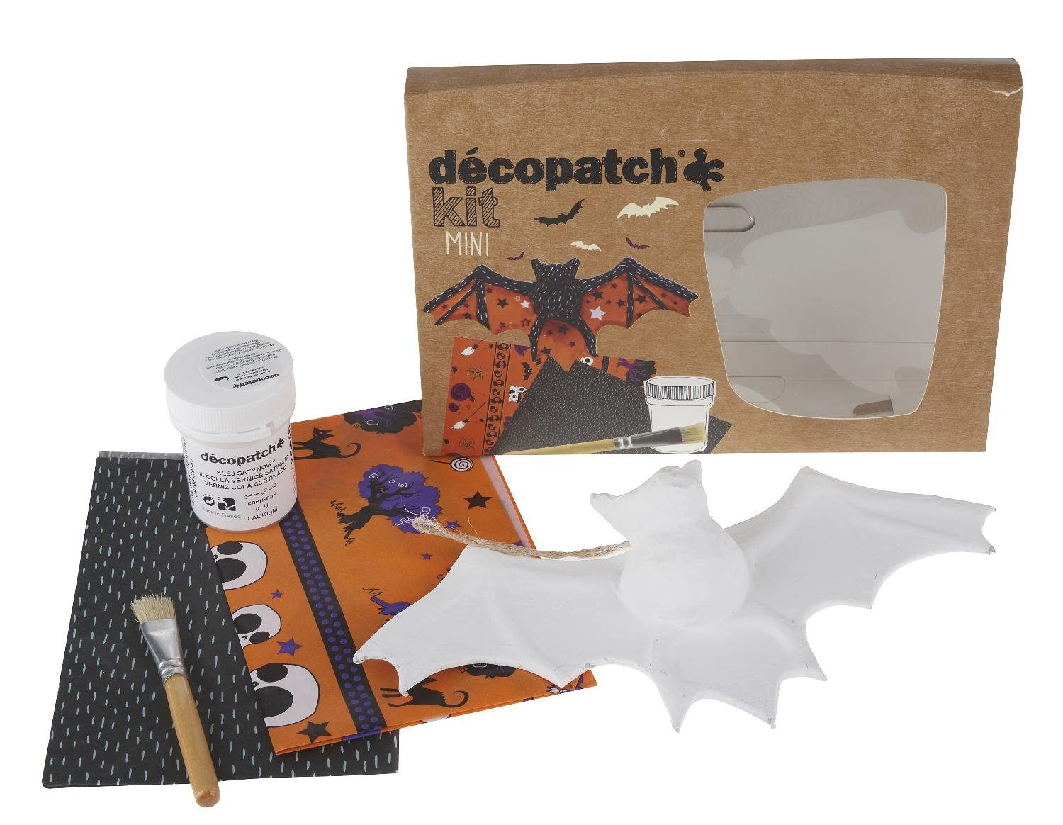 "décopatch Bastelset ""Kit Mini Halloween Fledermaus"" 5 Teile"