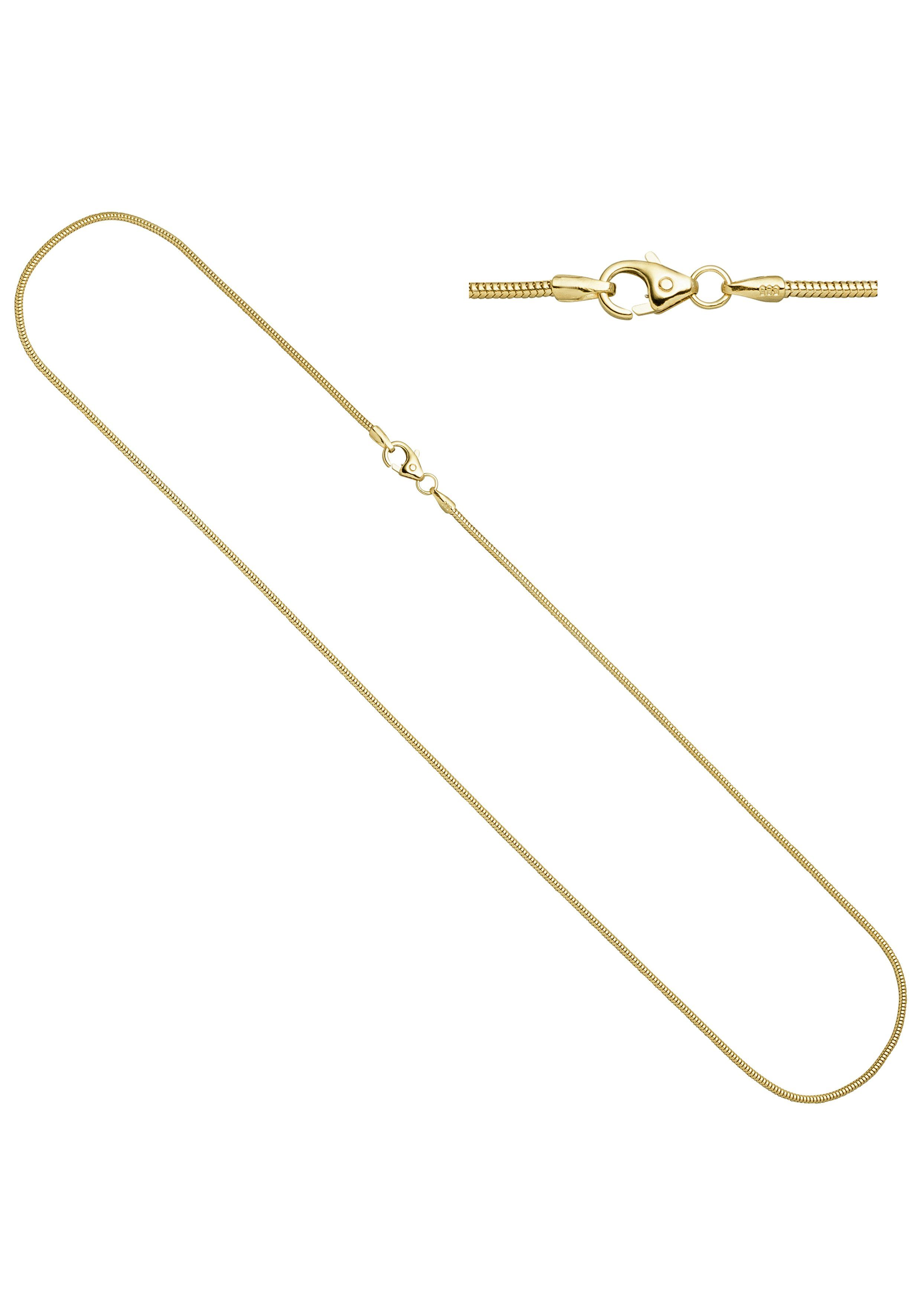 JOBO Goldkette Schlangenkette 585 Gold 50 cm 1,4 mm