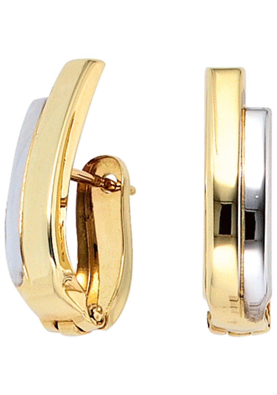 JOBO Paar Creolen 333 Gold bicolor