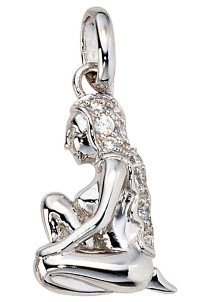 JOBO Sternzeichenanhänger Sternzeichen Jungfrau 925 Silber mit Zirkonia
