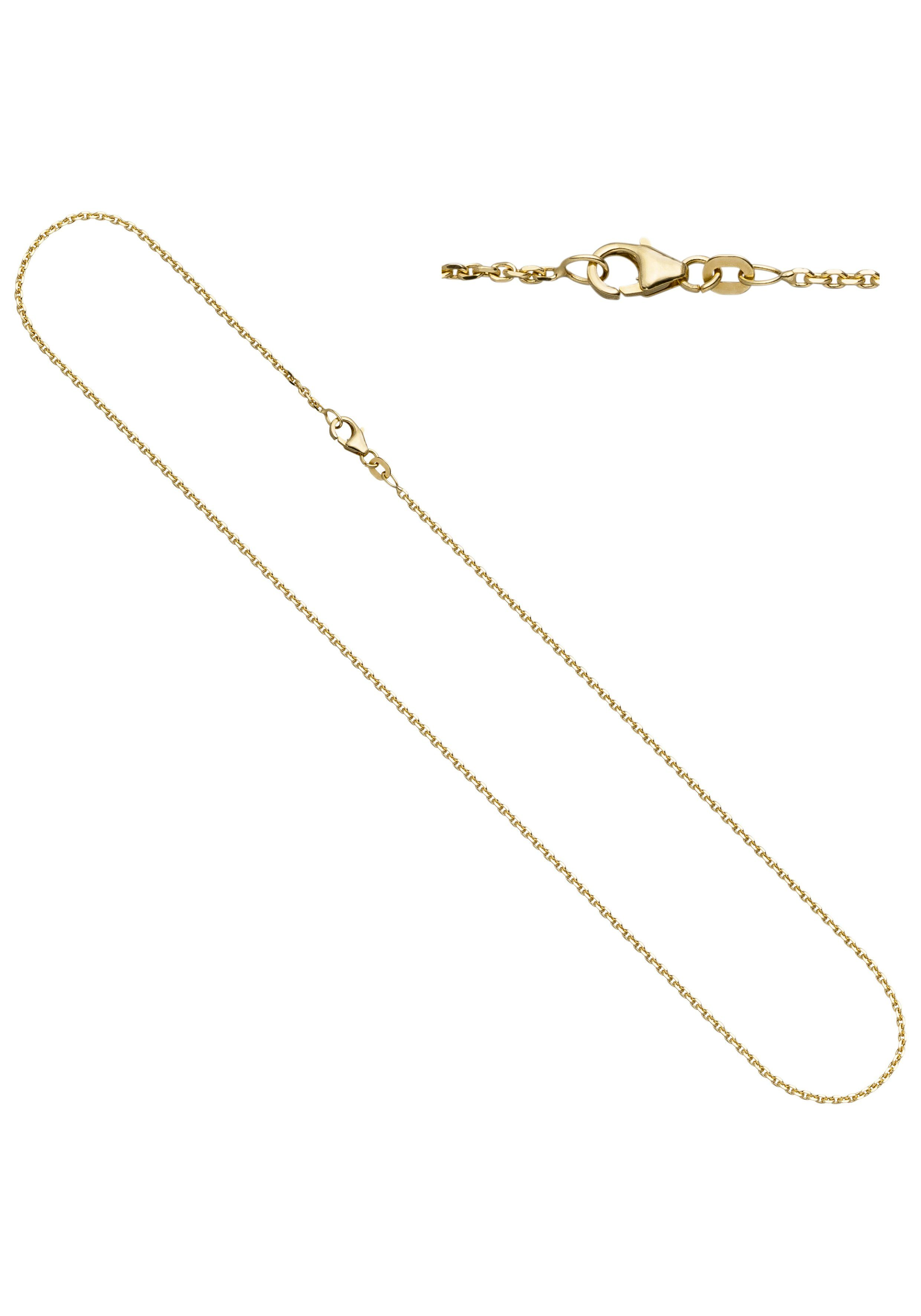 JOBO Goldkette Ankerkette 585 Gold diamantiert 50 cm 1,9 mm