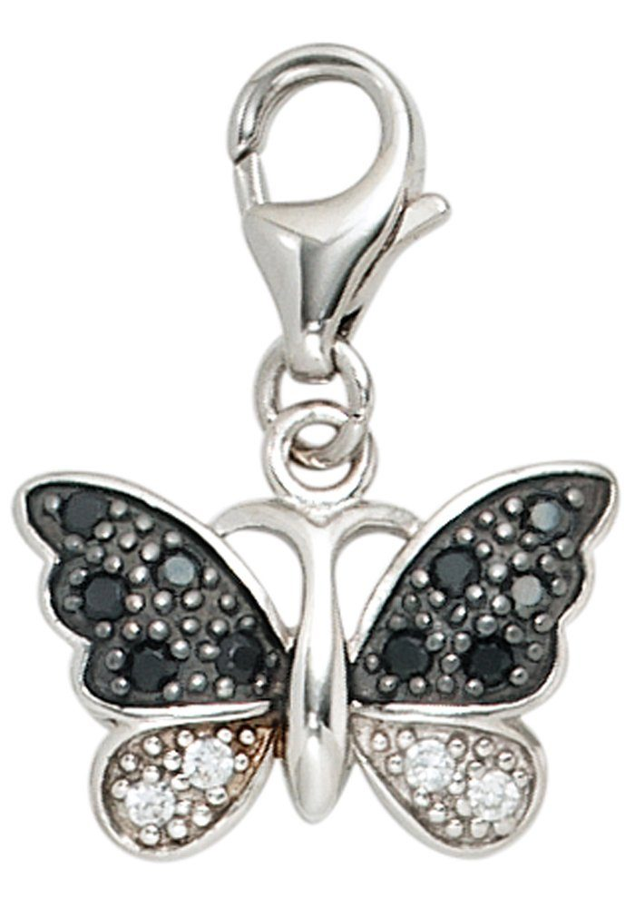 JOBO Charm Schmetterling »Schmetterling« 925 Silber mit Zirkonia