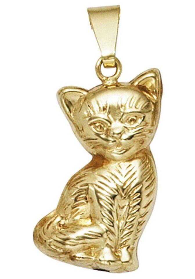 JOBO Kettenanhänger »Katze« 333 Gold   Schmuck > Halsketten > Ketten ohne Anhänger   Goldfarben   JOBO