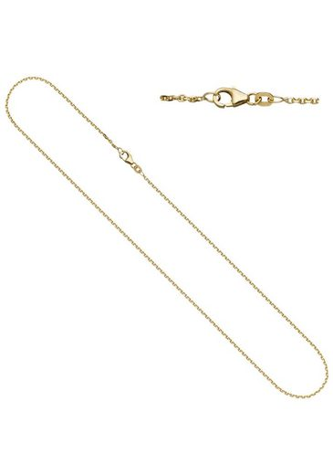 JOBO Goldkette, Ankerkette 333 Gold diamantiert 40 cm 1,6 mm