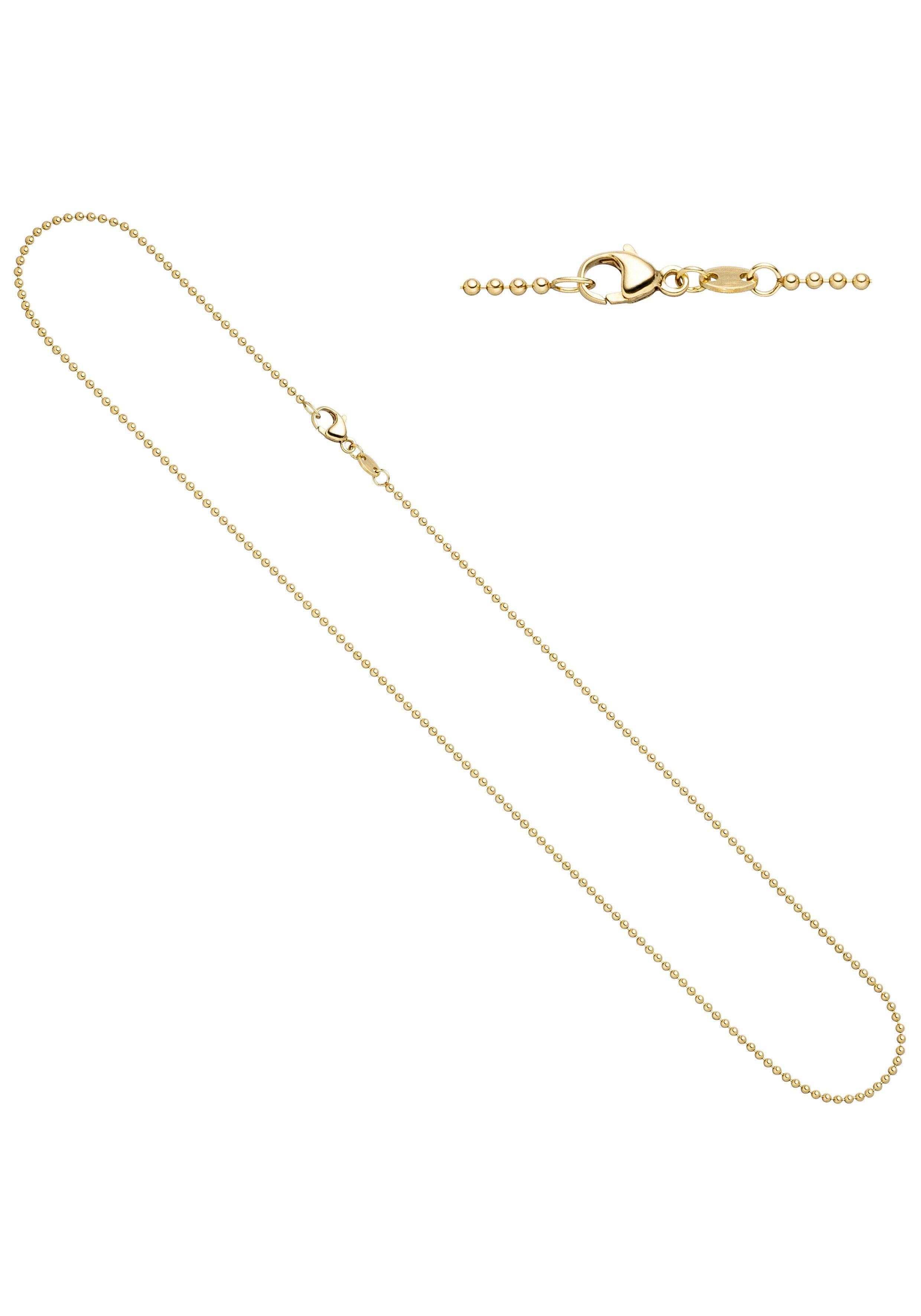 JOBO Goldkette Kugelkette 585 Gold 42 cm 1,5 mm