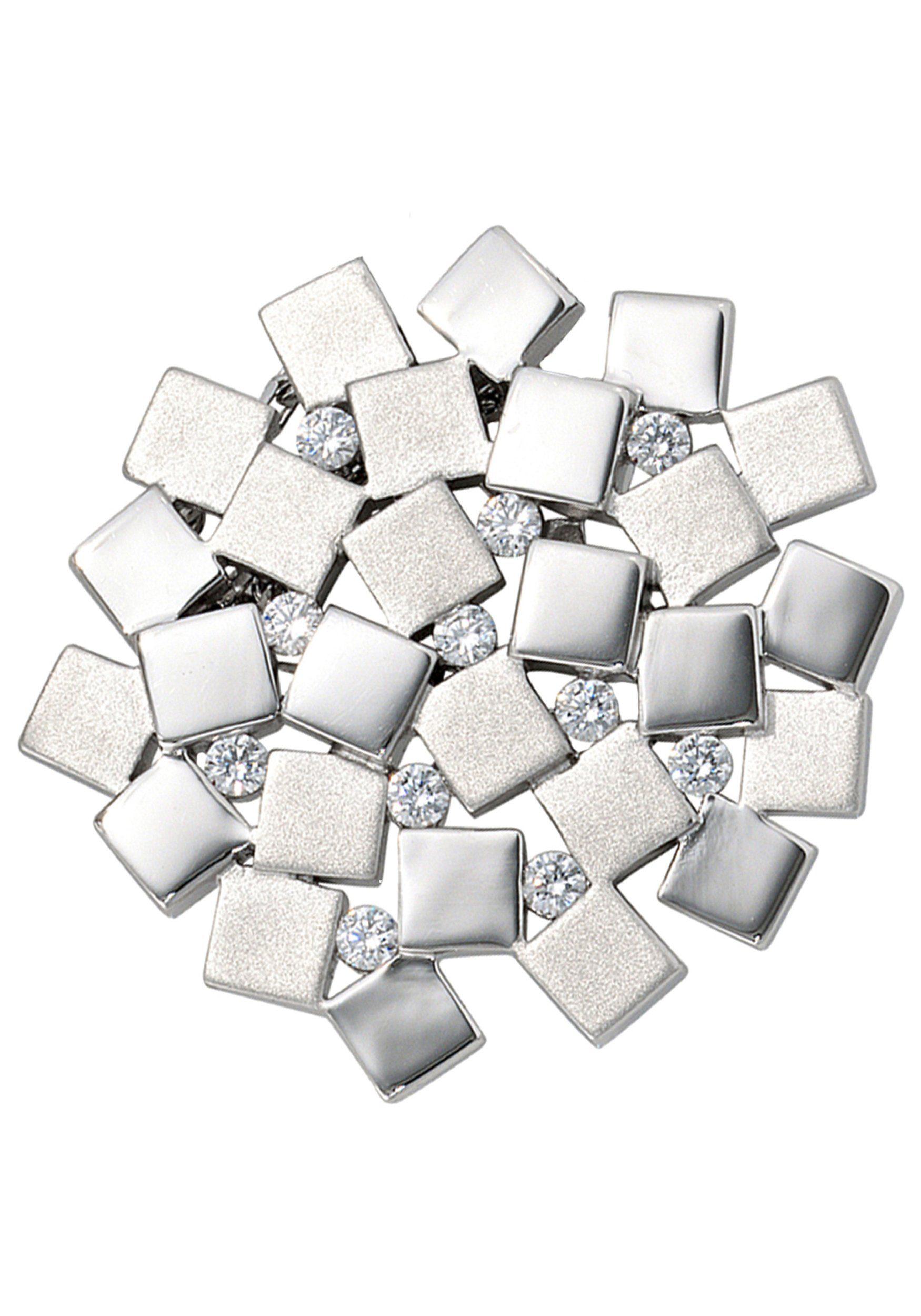 JOBO Kettenanhänger 925 Silber mit Zirkonia
