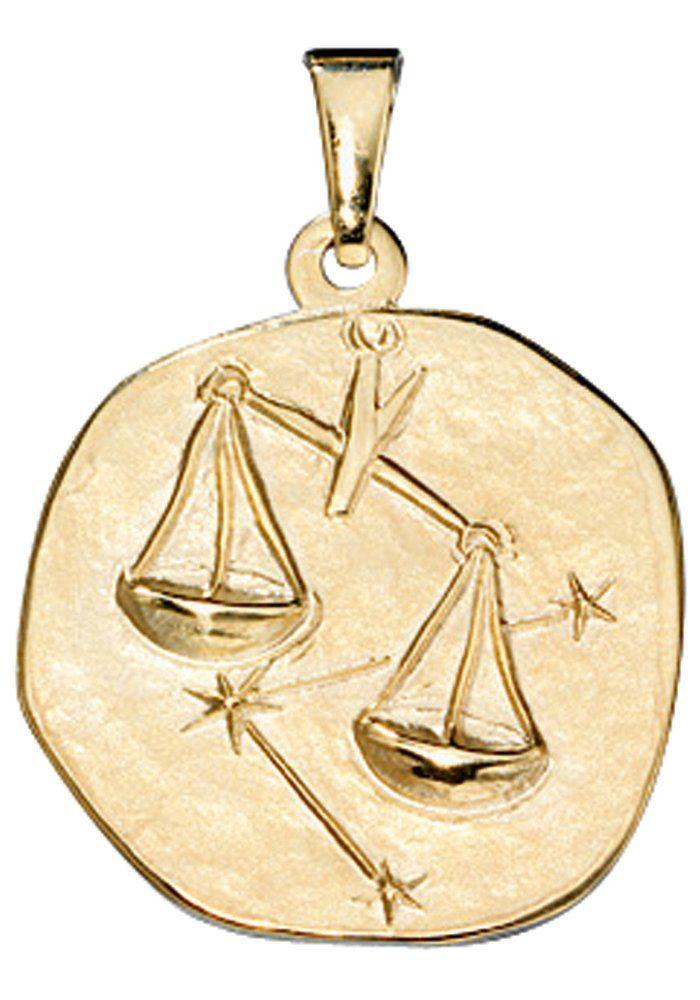 JOBO Sternzeichenanhänger Sternzeichen Waage 333 Gold