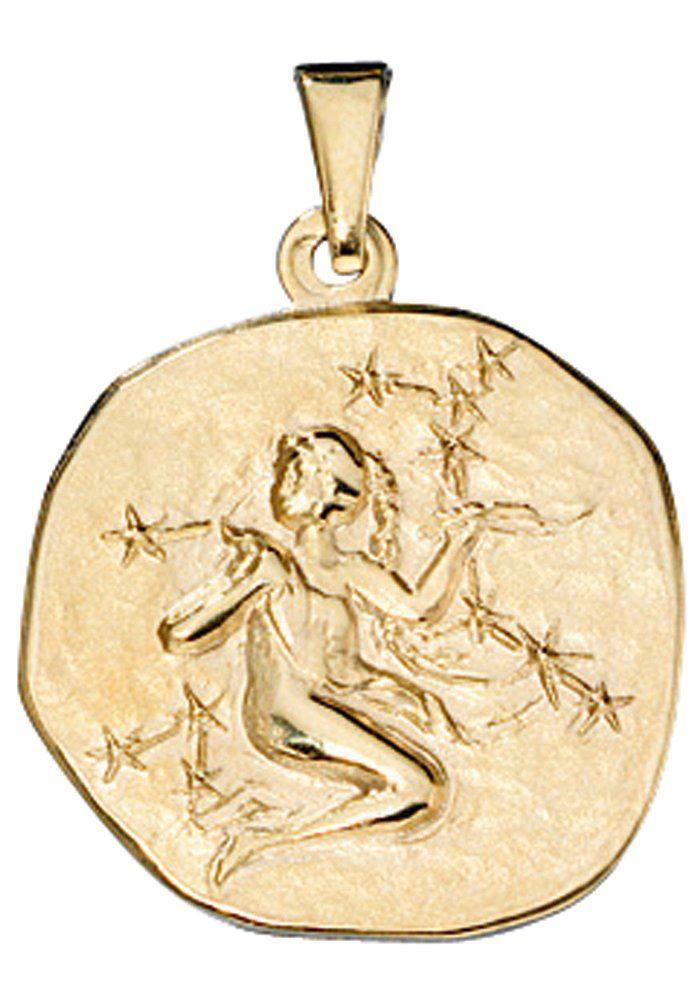 JOBO Sternzeichenanhänger Sternzeichen Jungfrau 333 Gold