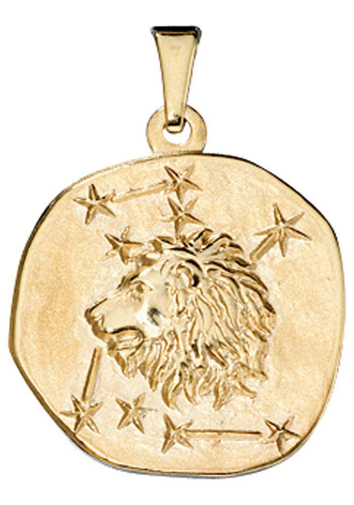 JOBO Sternzeichenanhänger Sternzeichen Löwe 333 Gold