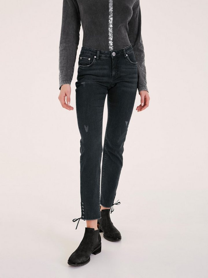 heine casual jeans mit schn rung am bein kaufen otto. Black Bedroom Furniture Sets. Home Design Ideas