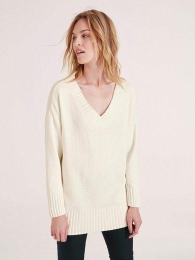 heine CASUAL Pullover mit V-Ausschnitt